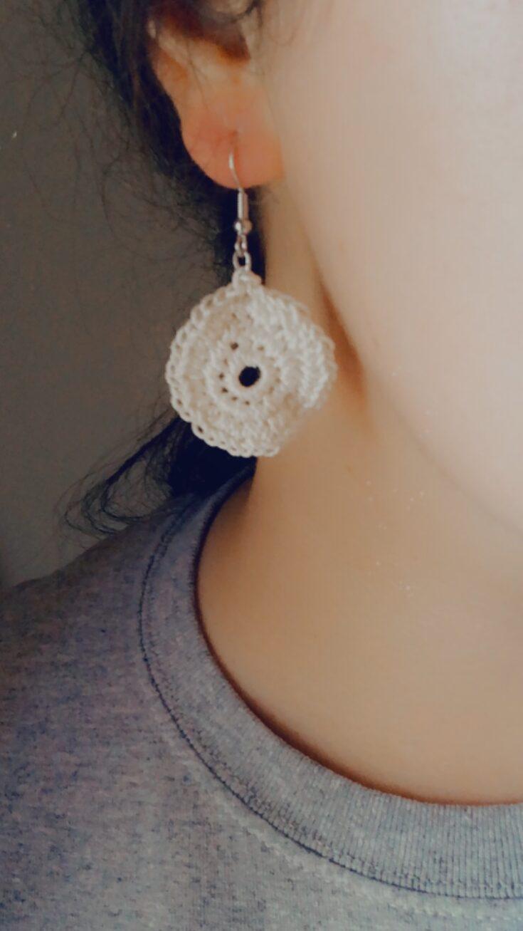 Modeling the Boho Circle Earrings