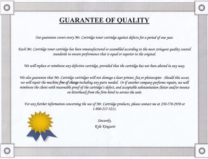 Mr-Cartridge-guarantee