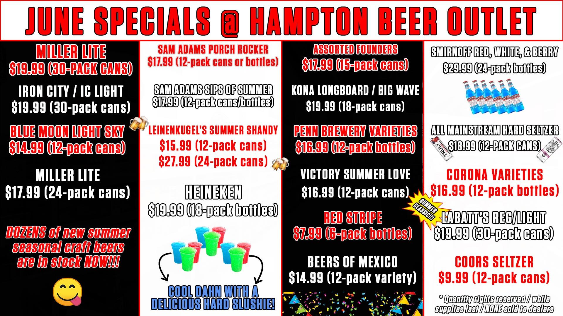 hampton-beer-outlet-pittsburgh-june-specials