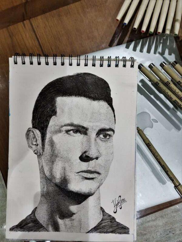 Cristiano Ronaldo - Portrait Sketch