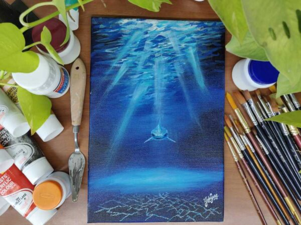 From the Dark Sea - 8*12 Inch Acrylic Painting