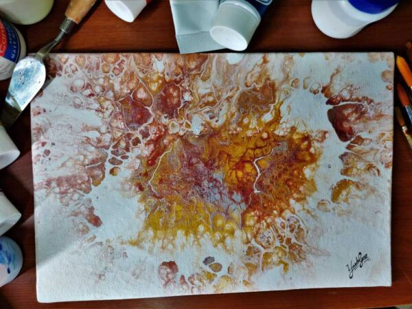 Madness of Gold - 8*12 Inch Acrylic Painting