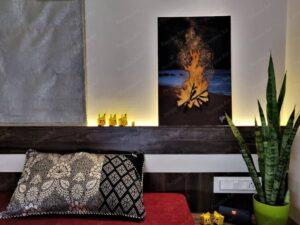 """Bonfire"" - 16*24 Inch Acrylic painting"
