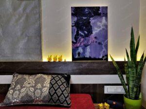 """Glow of RAM"" - 16*24 Inch Acrylic Painting"