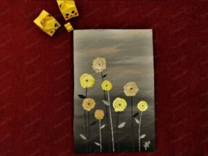 """Growing Yellow"" - 8*12 Inch Acrylic Painting"