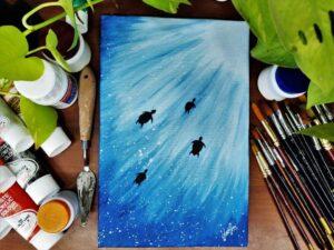 Towards Light - 8*12 Inch Acrylic Painting