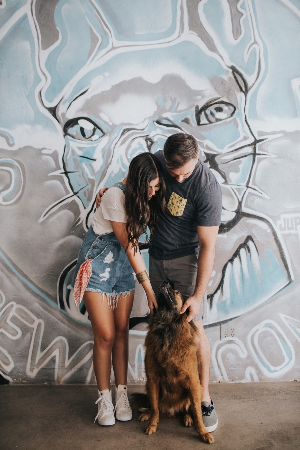 Engagement session with a dog
