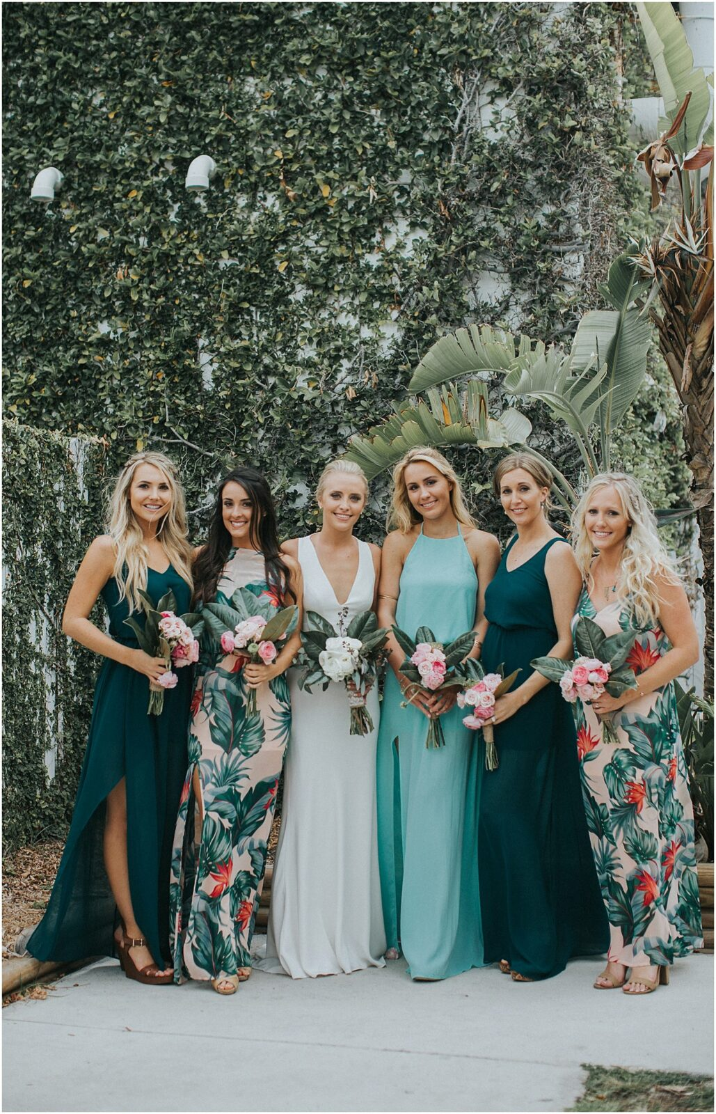 tropical bridesmaid dresses