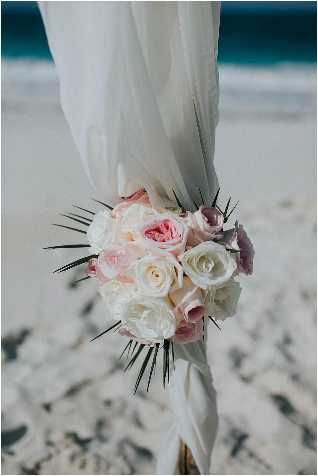 florals for a beach wedding