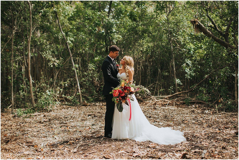 tropical florida wedding