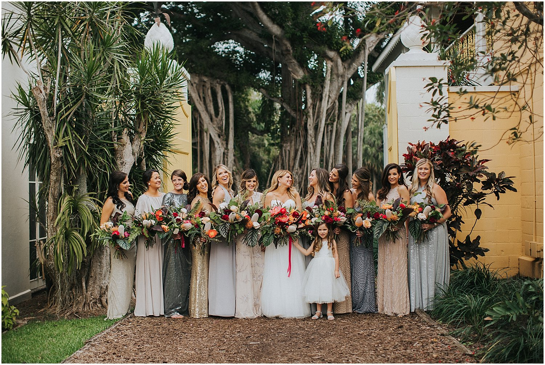 mis-matched bridesmaids