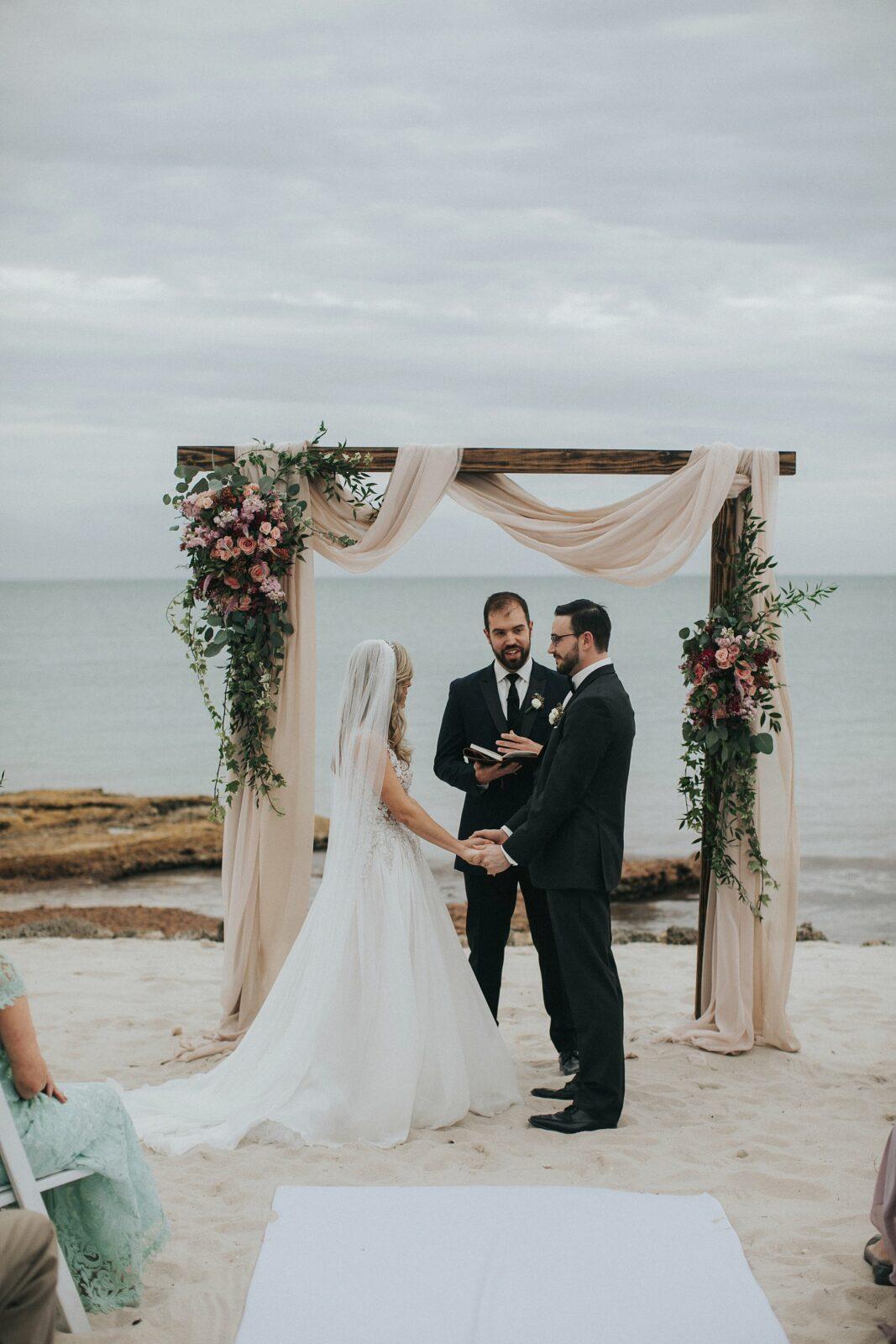 key west beach side wedding