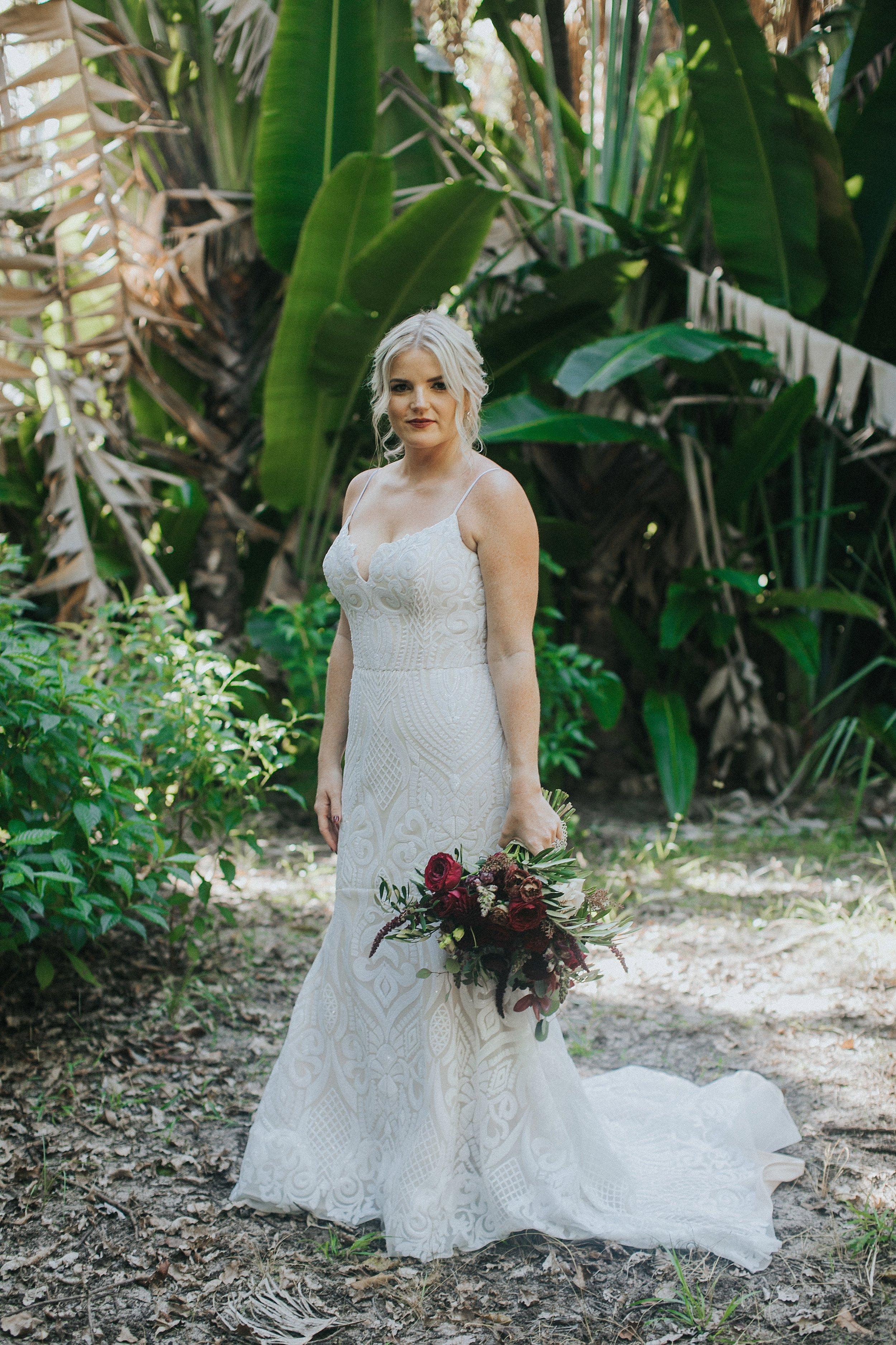 tropical bridal portraits