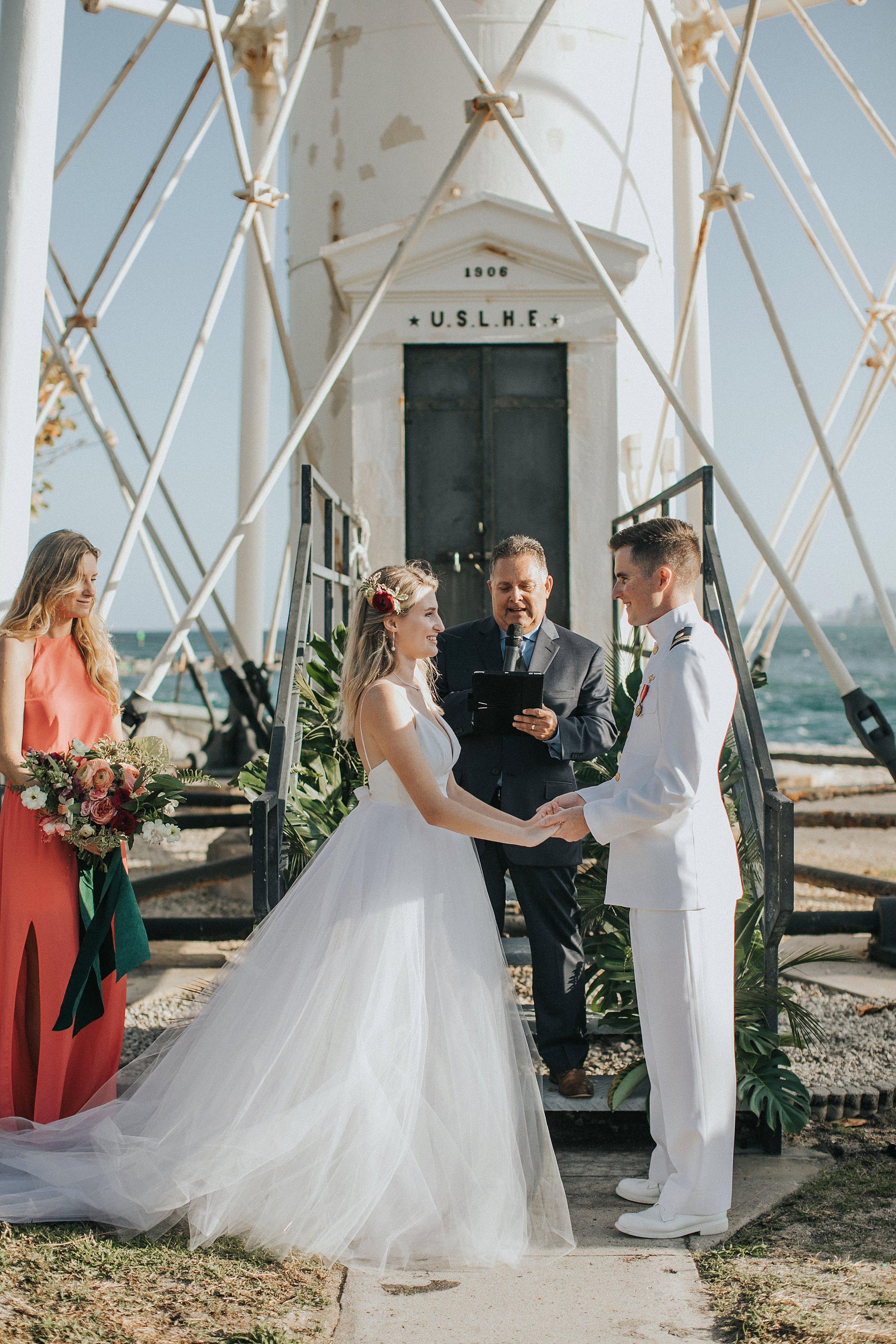 tropical florida wedding ceremony
