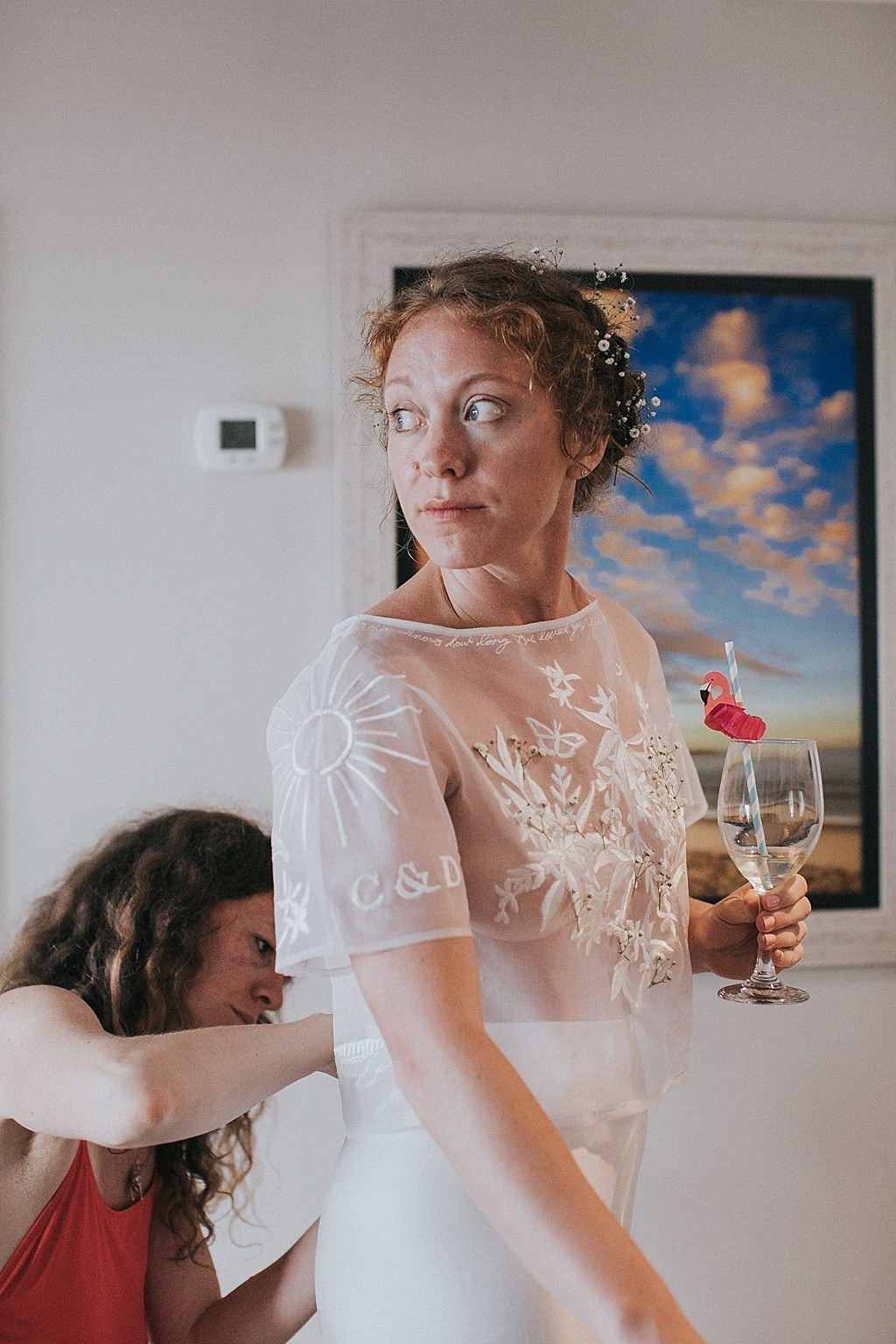 getting ready on the wedding day