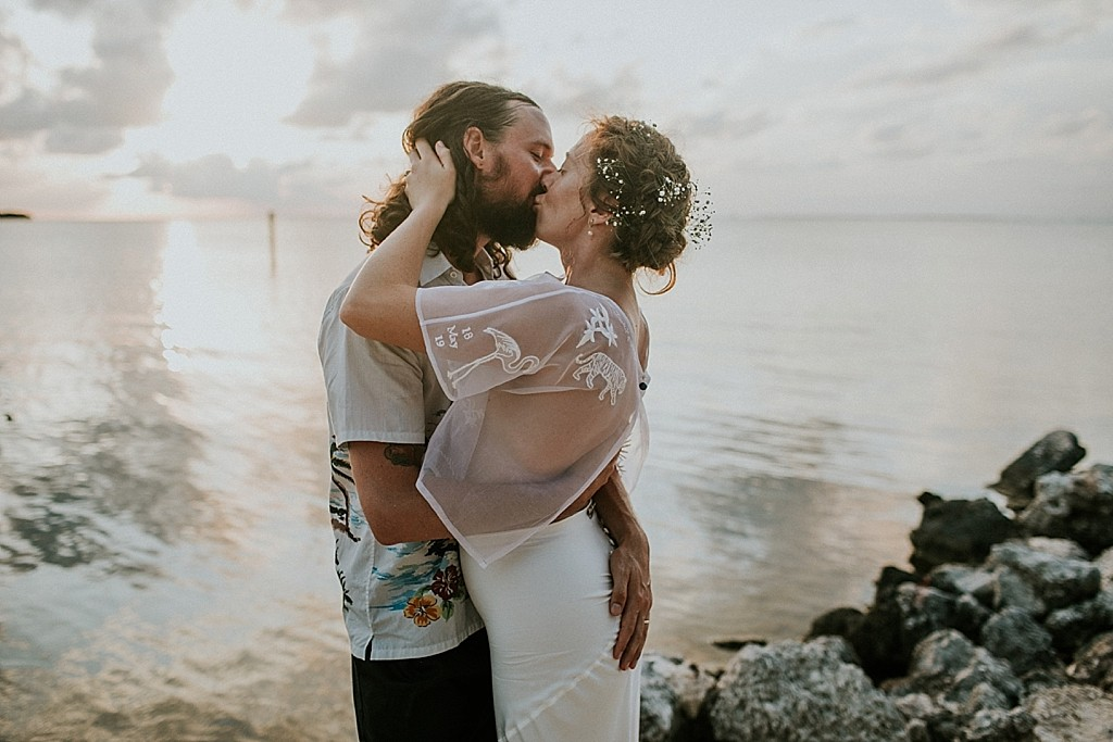 sunset wedding photos in the keys