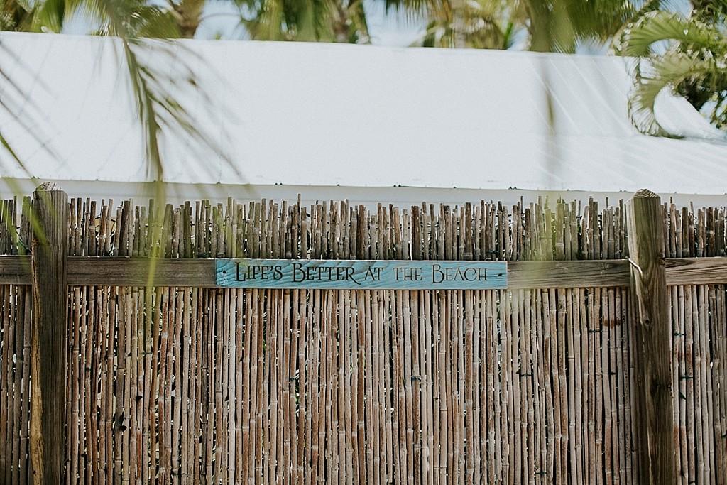 florida keys wedding details