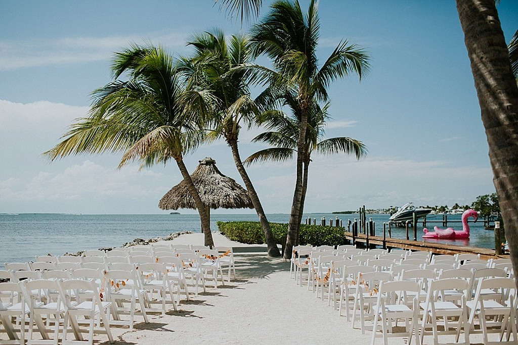 tropical water front keys wedding ceremony