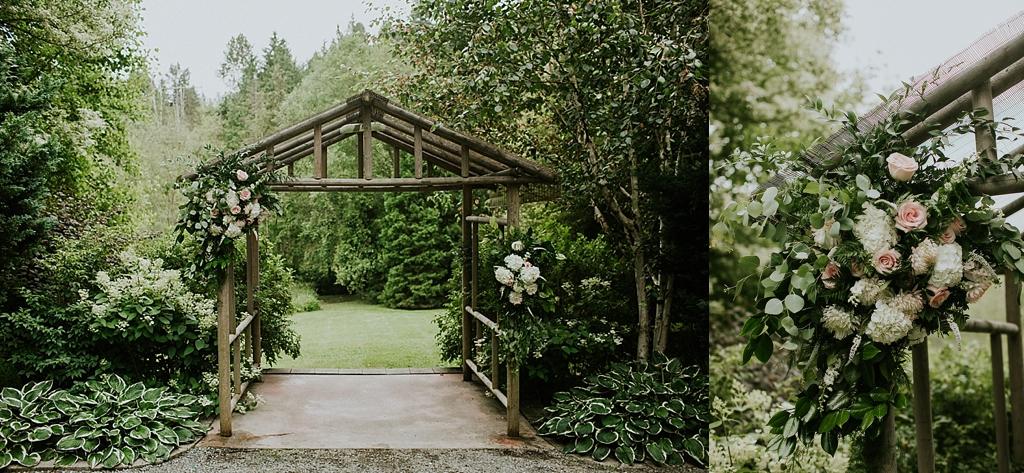 summer garden wedding seattle washington