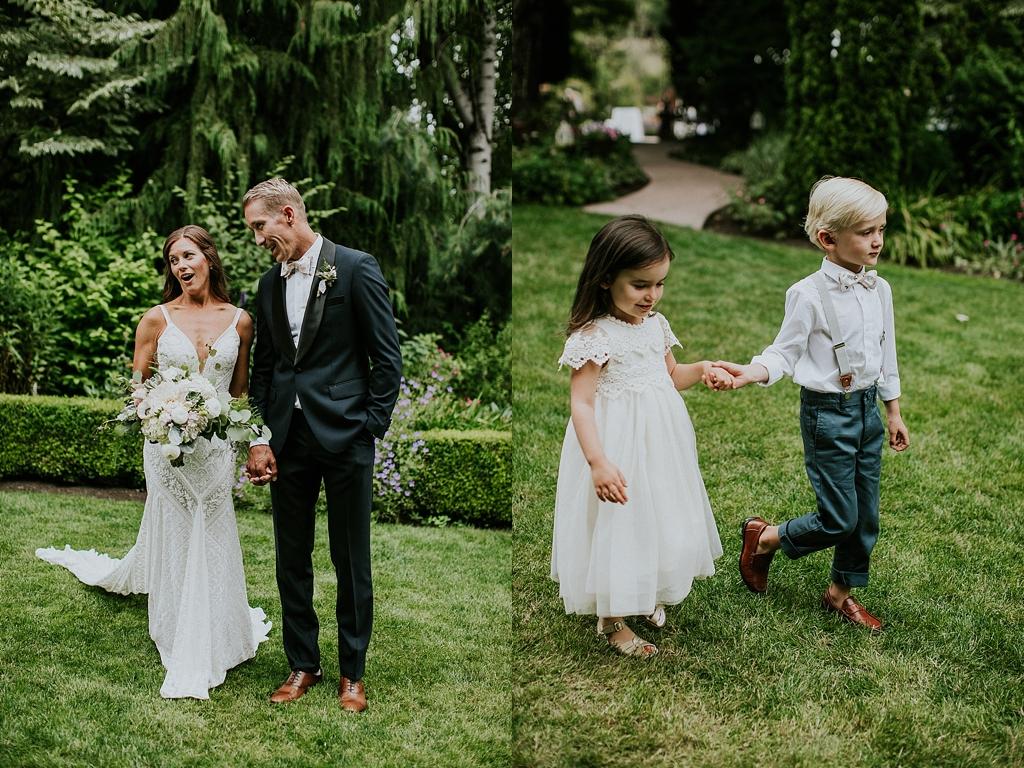 flower girl and ring bearer seattle wedding
