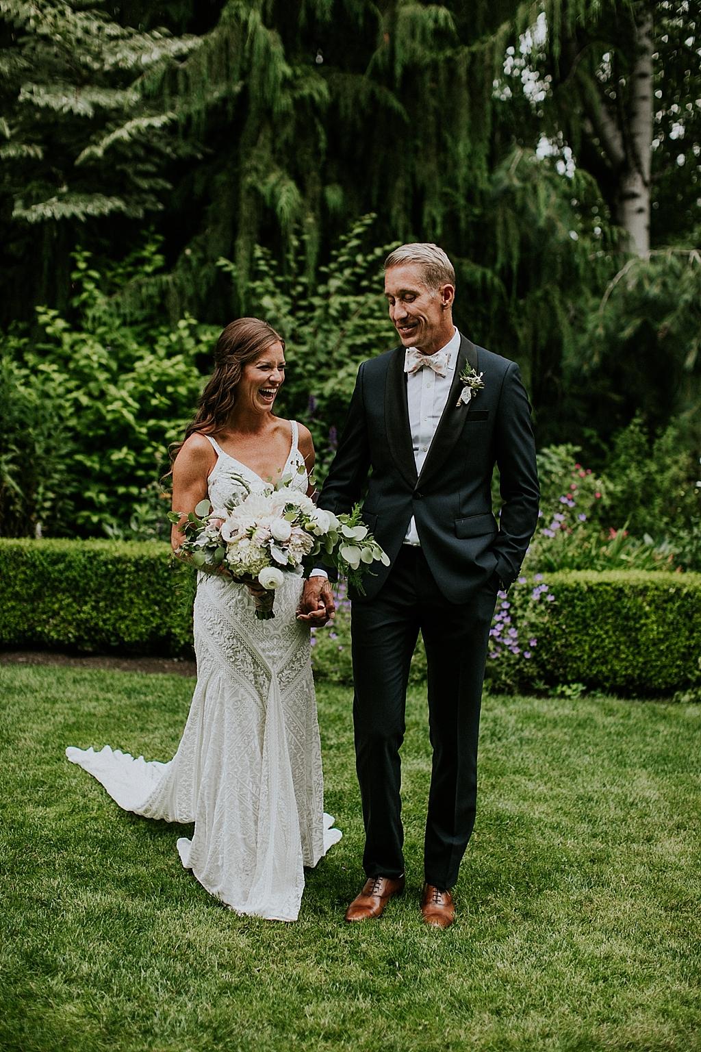 romantic garden wedding seattle washington