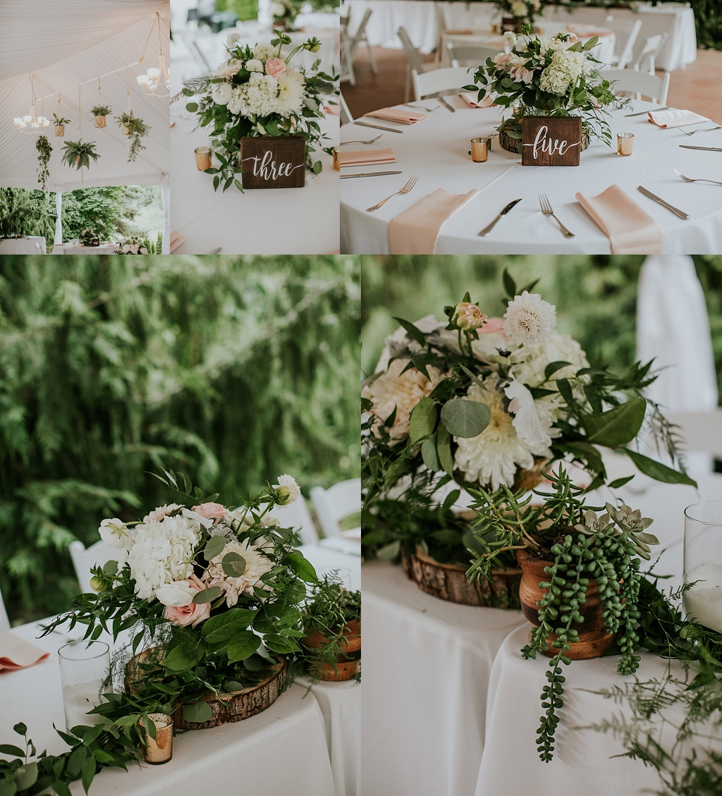seattle wedding rustic reception details