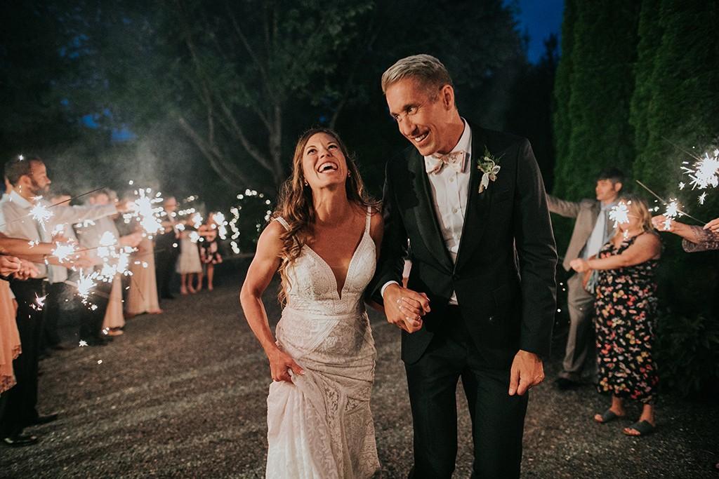 sparkler wedding exit