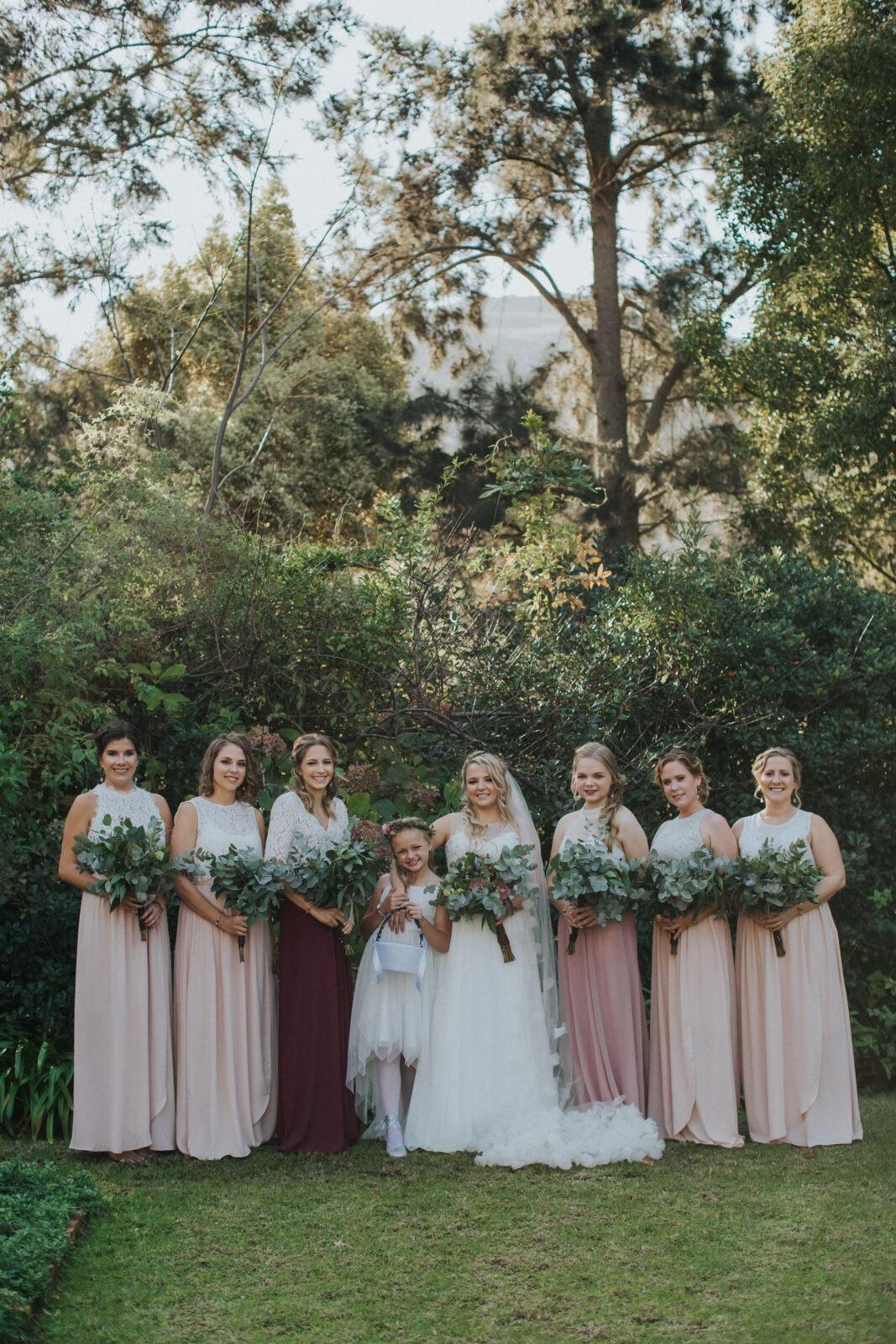 destination wedding bridesmaids south africa