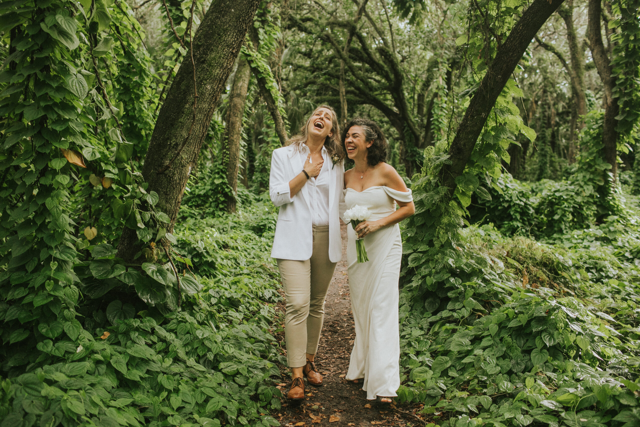 happy fun Miami elopement