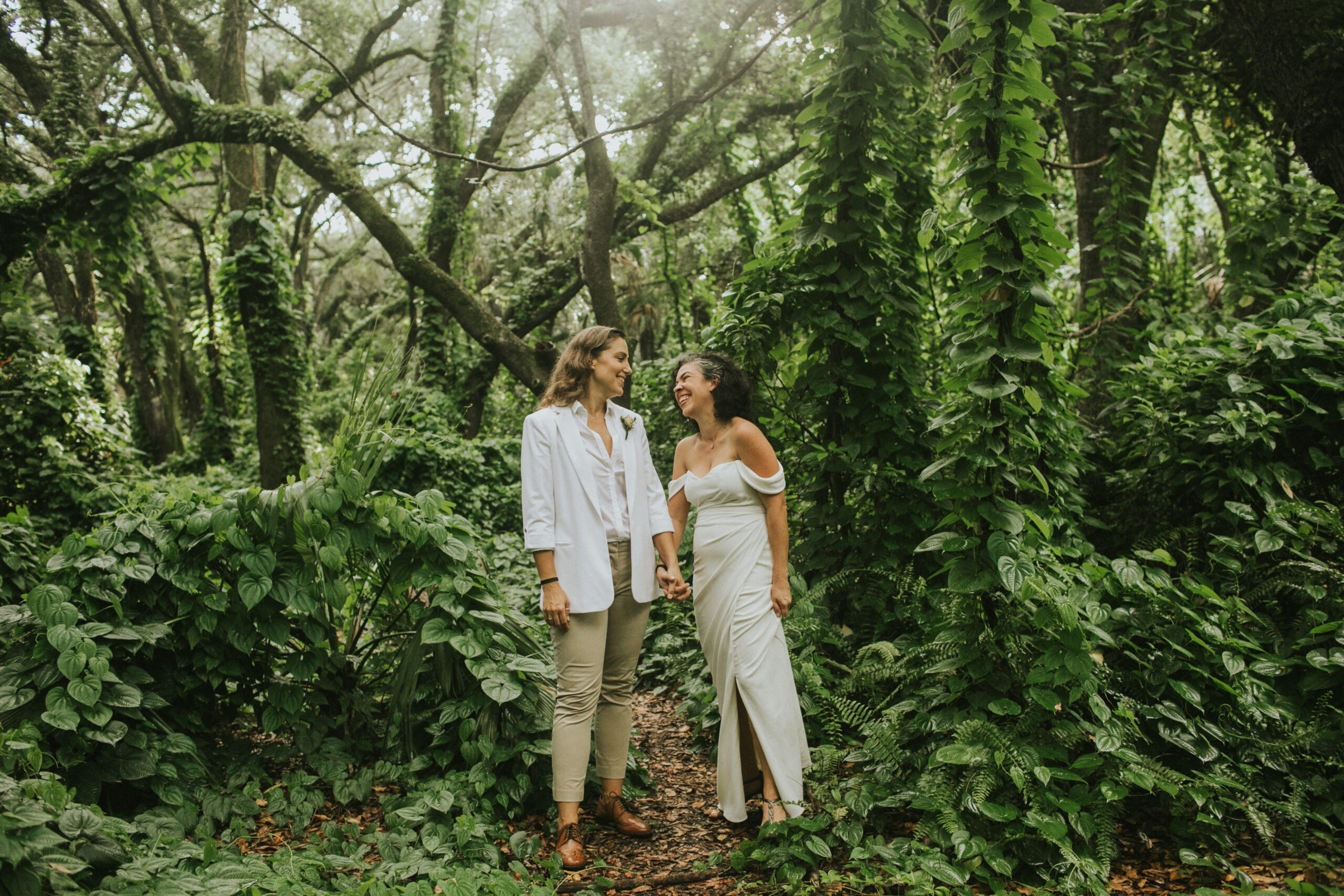 woodsy south florida elopement