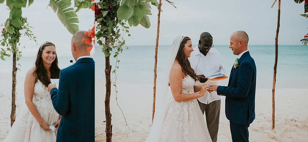 intimate beach wedding on Eluethera