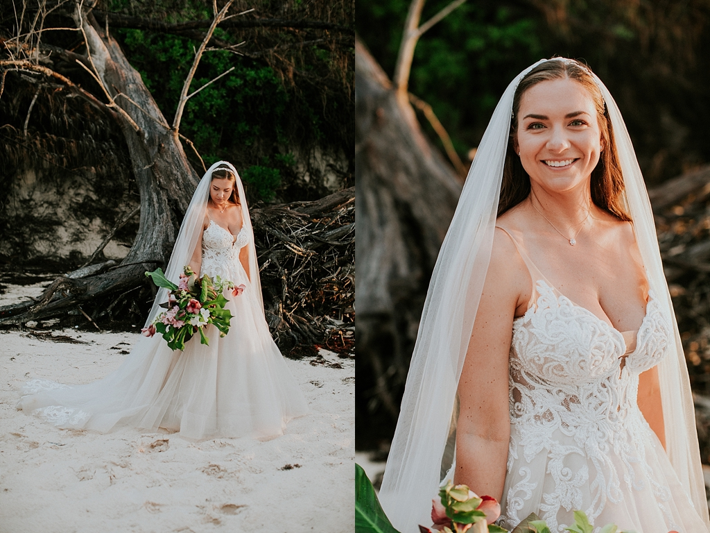 sunset wedding portraits in the bahamas