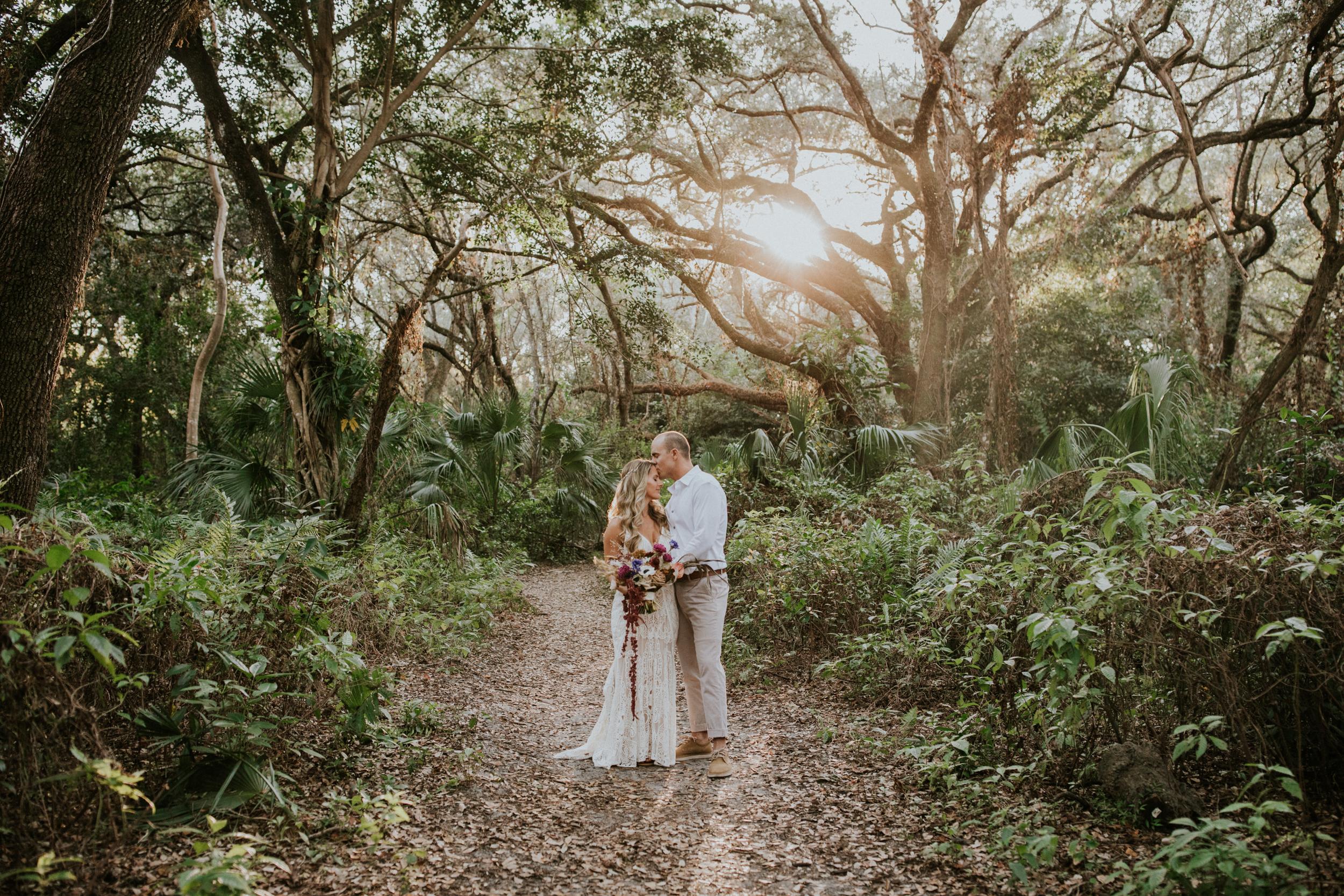 romantic sunset elopement in miami