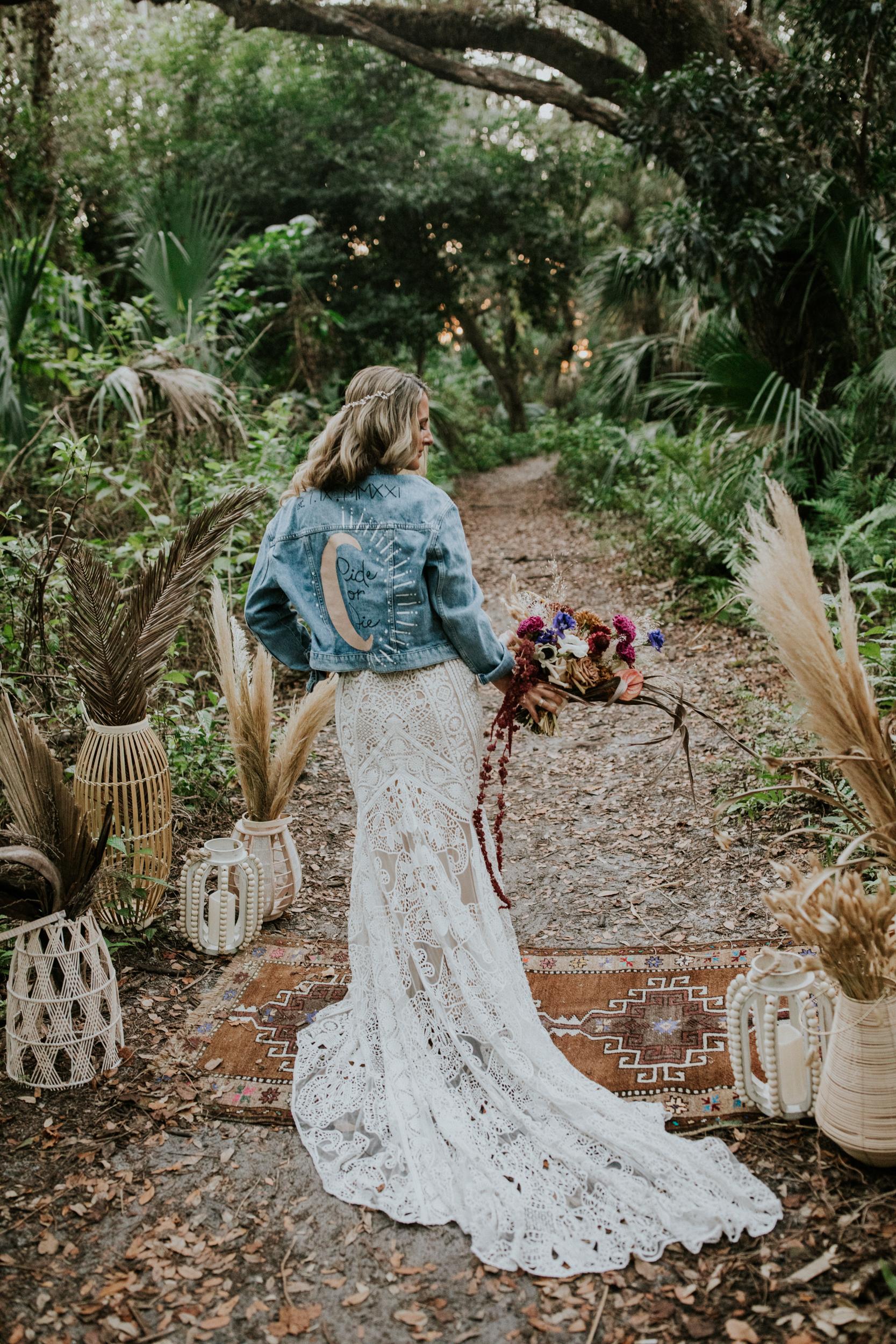 bridal jean jacket inspo
