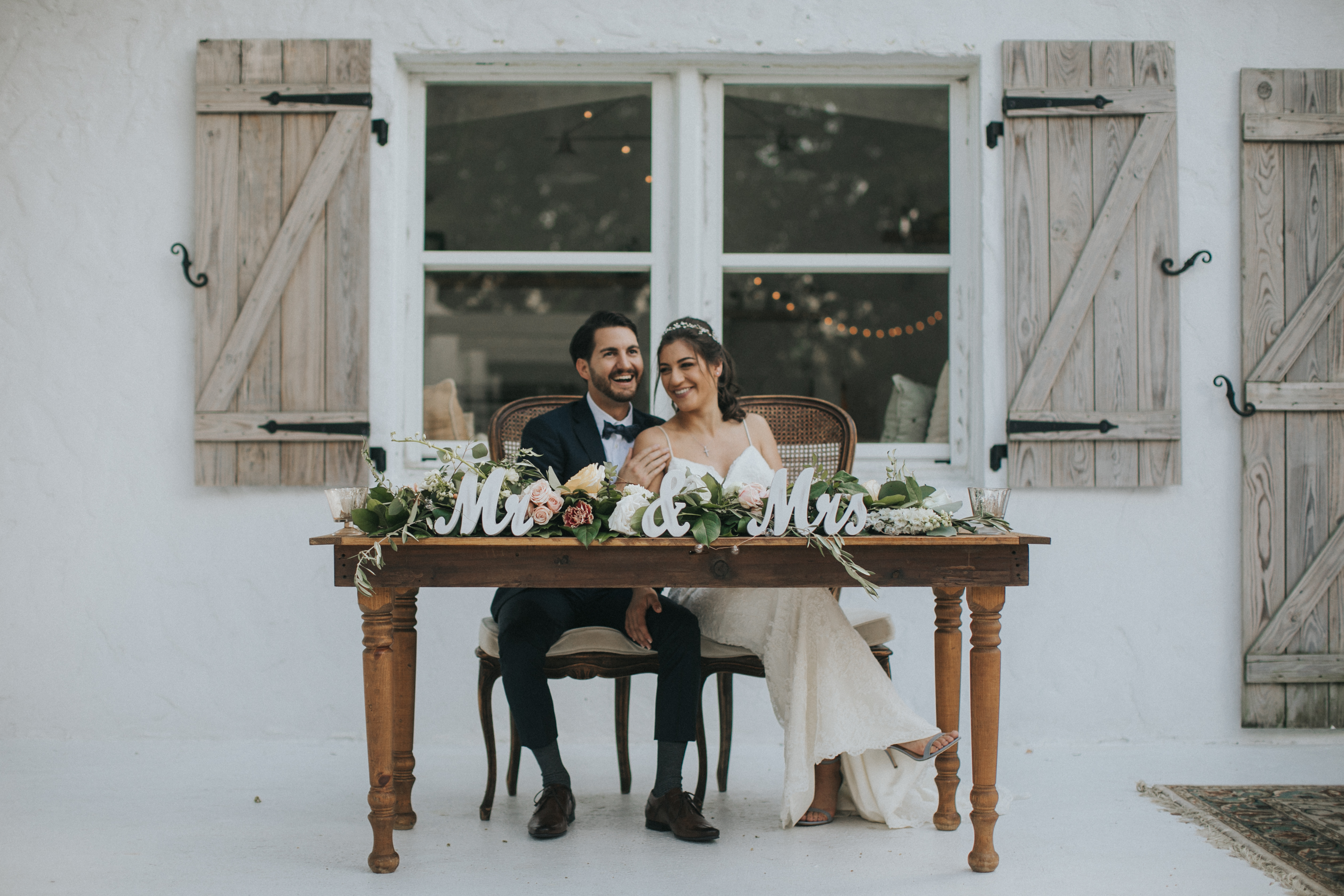 rustic wedding portraits