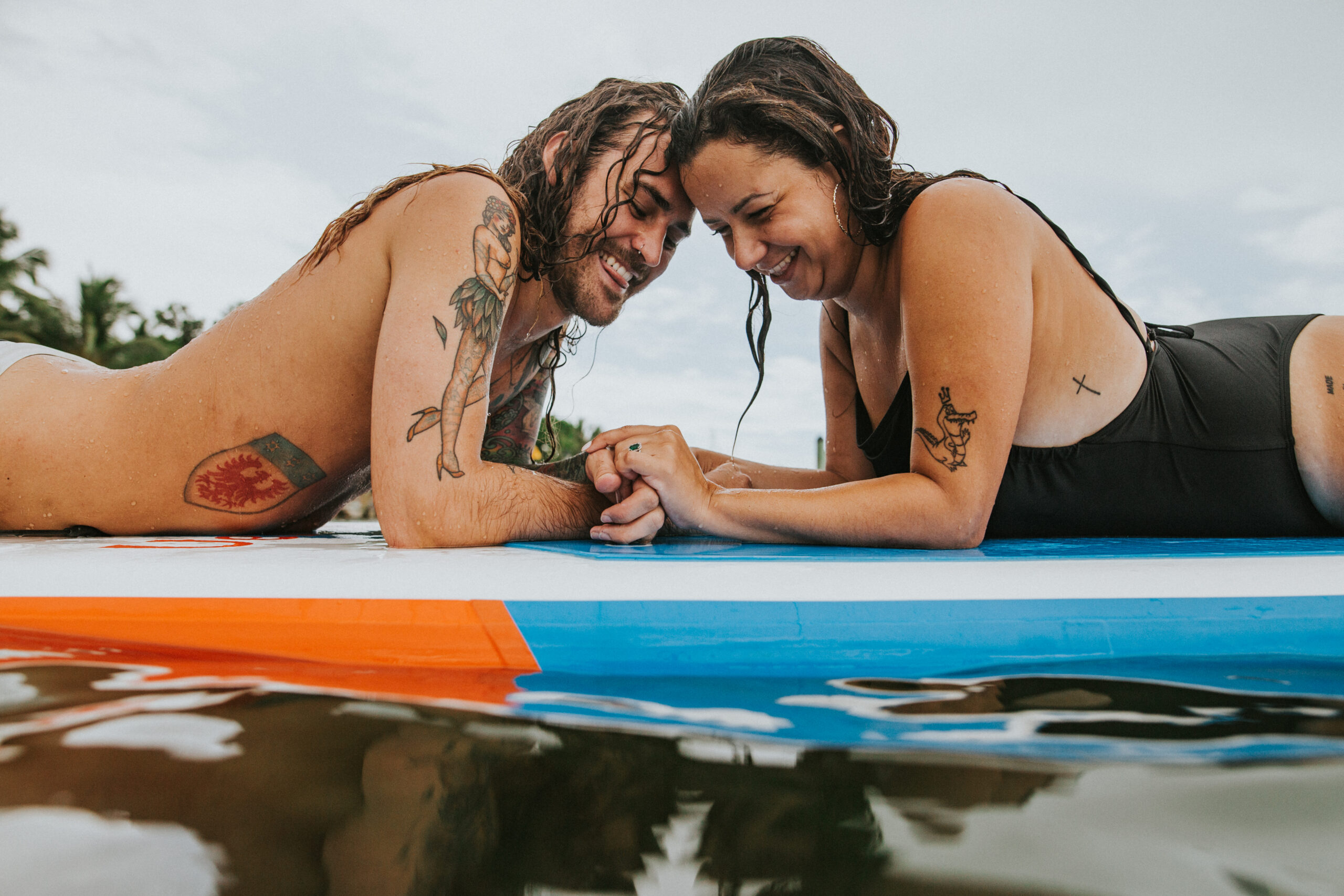 paddle board engagement session