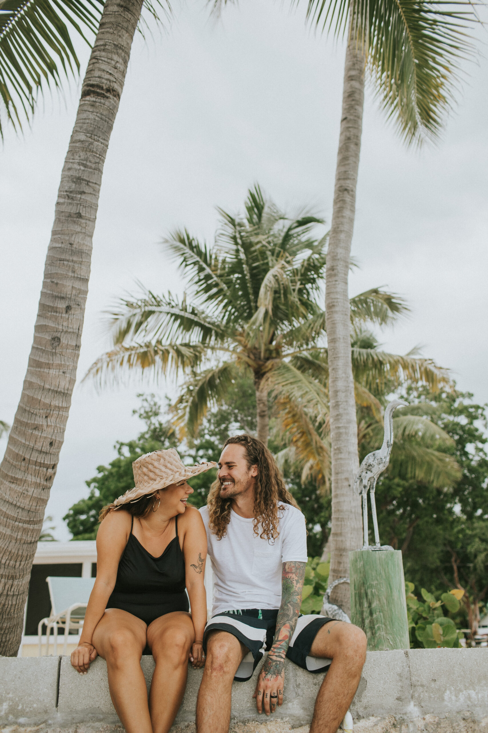 engagement photos at the pelican key largo