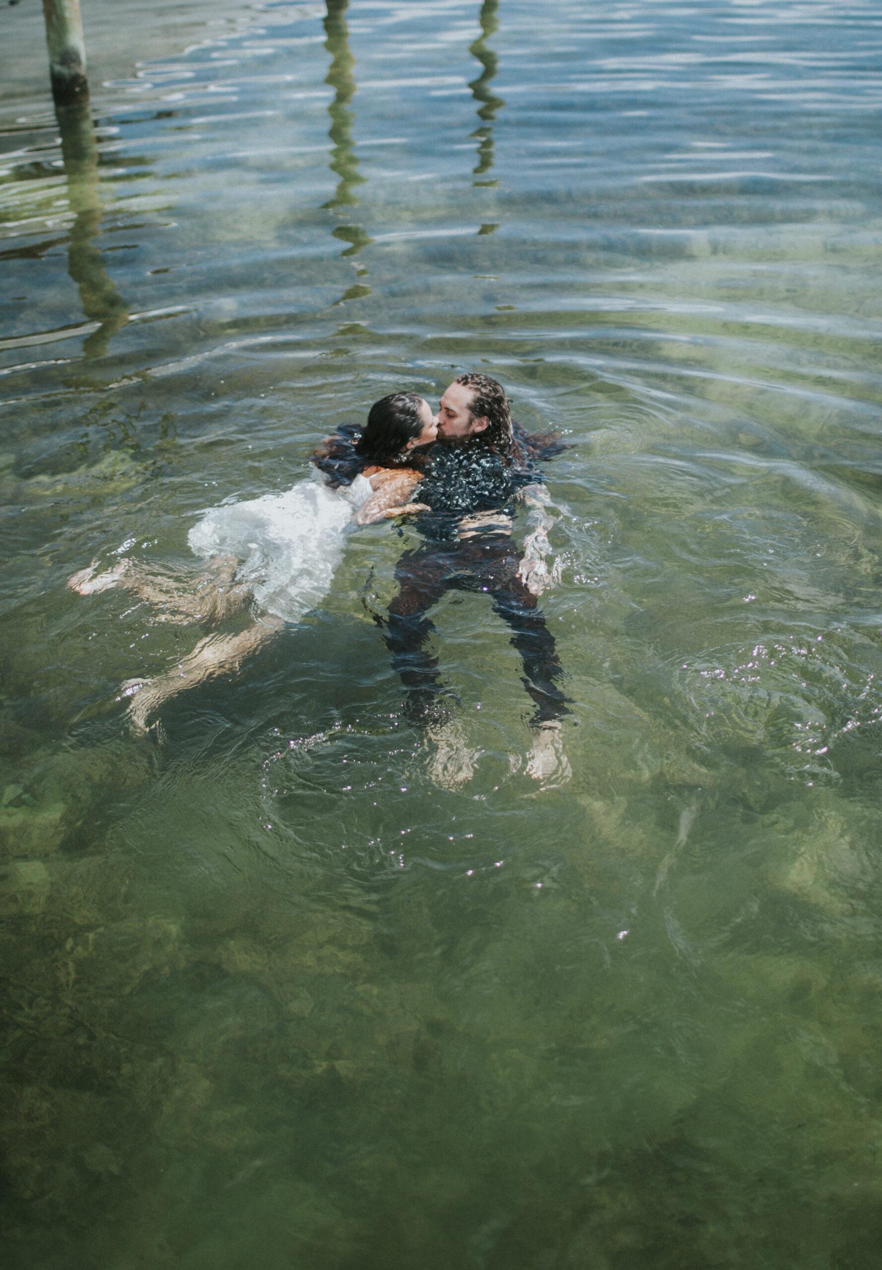 underwater engagement photos florida keys