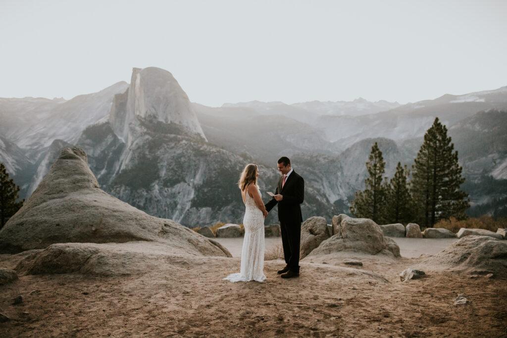 spring sunrise elopement Yosemite national park