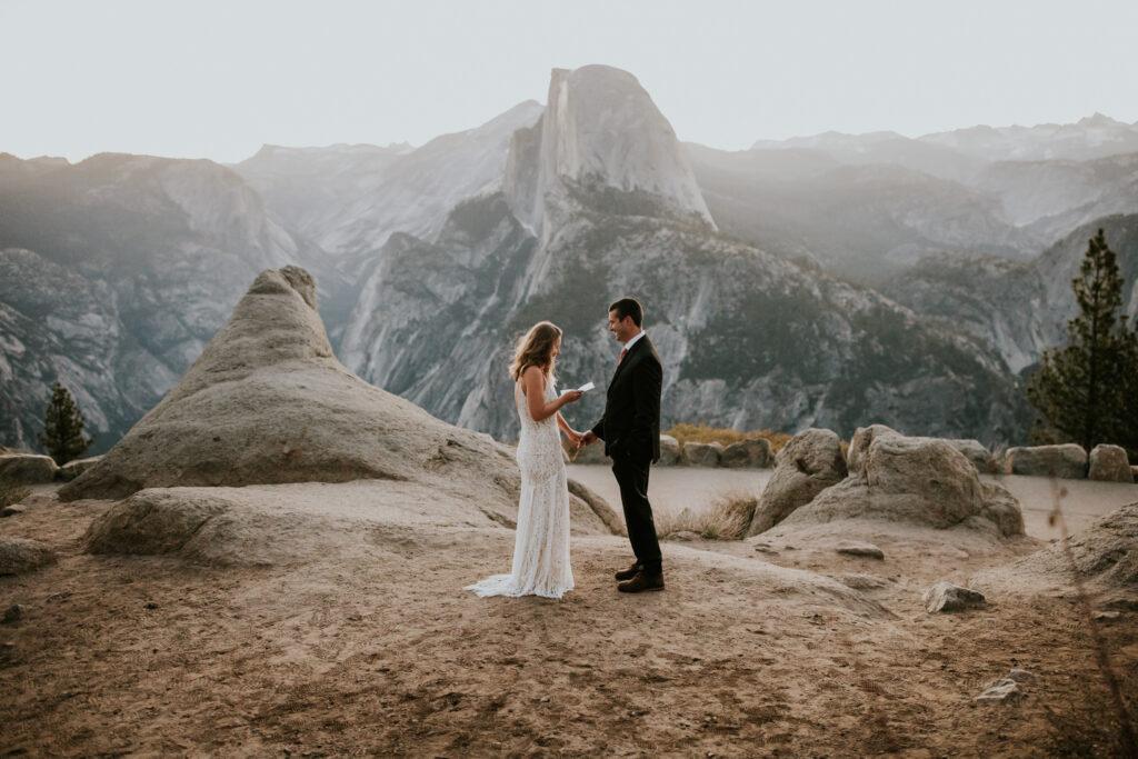 glacier point Yosemite national park elopement