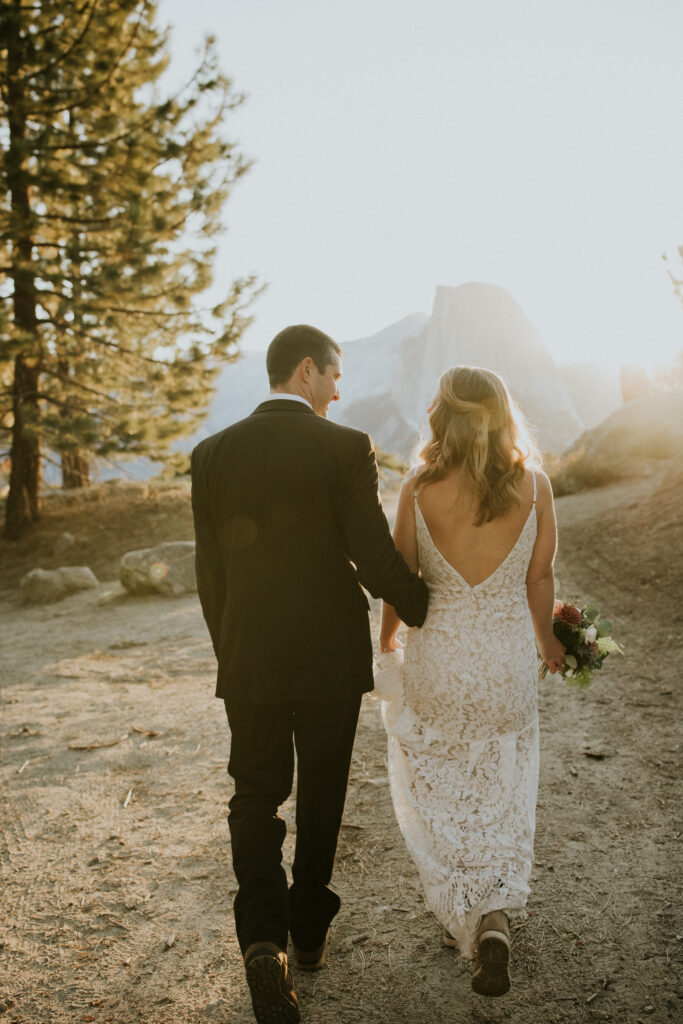 sunrise Yosemite elopement