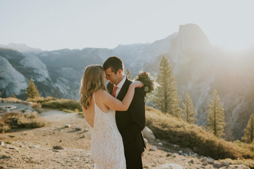 sunrise glacier point wedding
