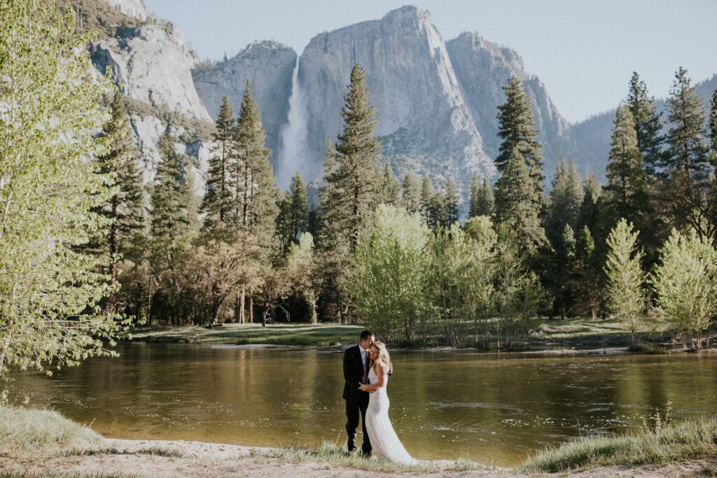 Yosemite waterfall elopement