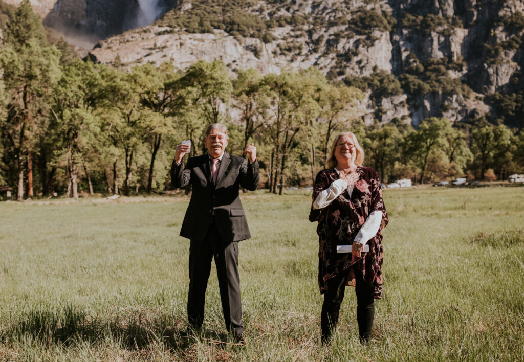 Yosemite valley elopement