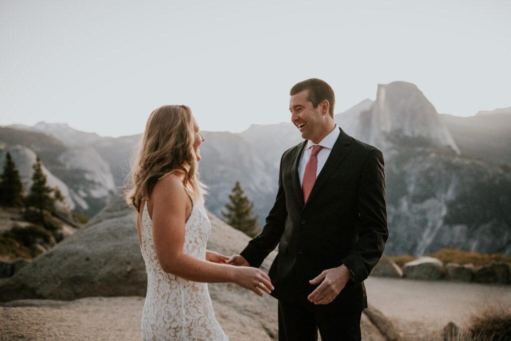 sunrise elopement Yosemite national park