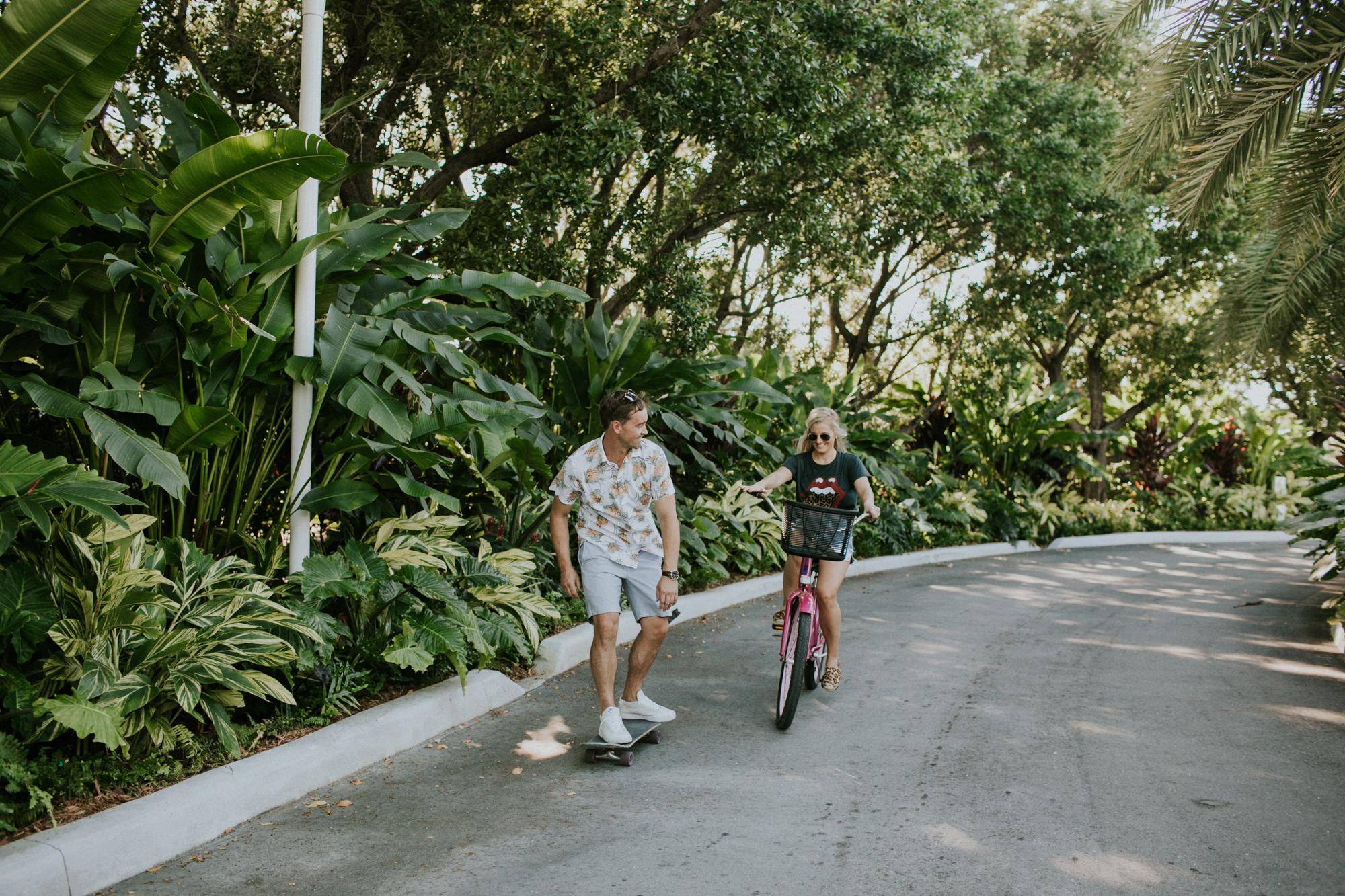 Riding bikes at the Islander Resort Islamorada