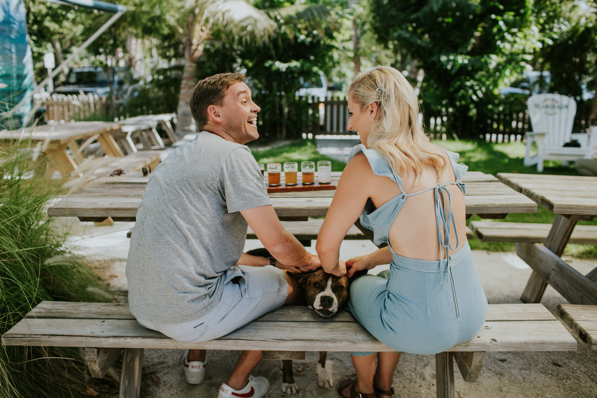Fun engagement session at the Islamorada Brewing Company