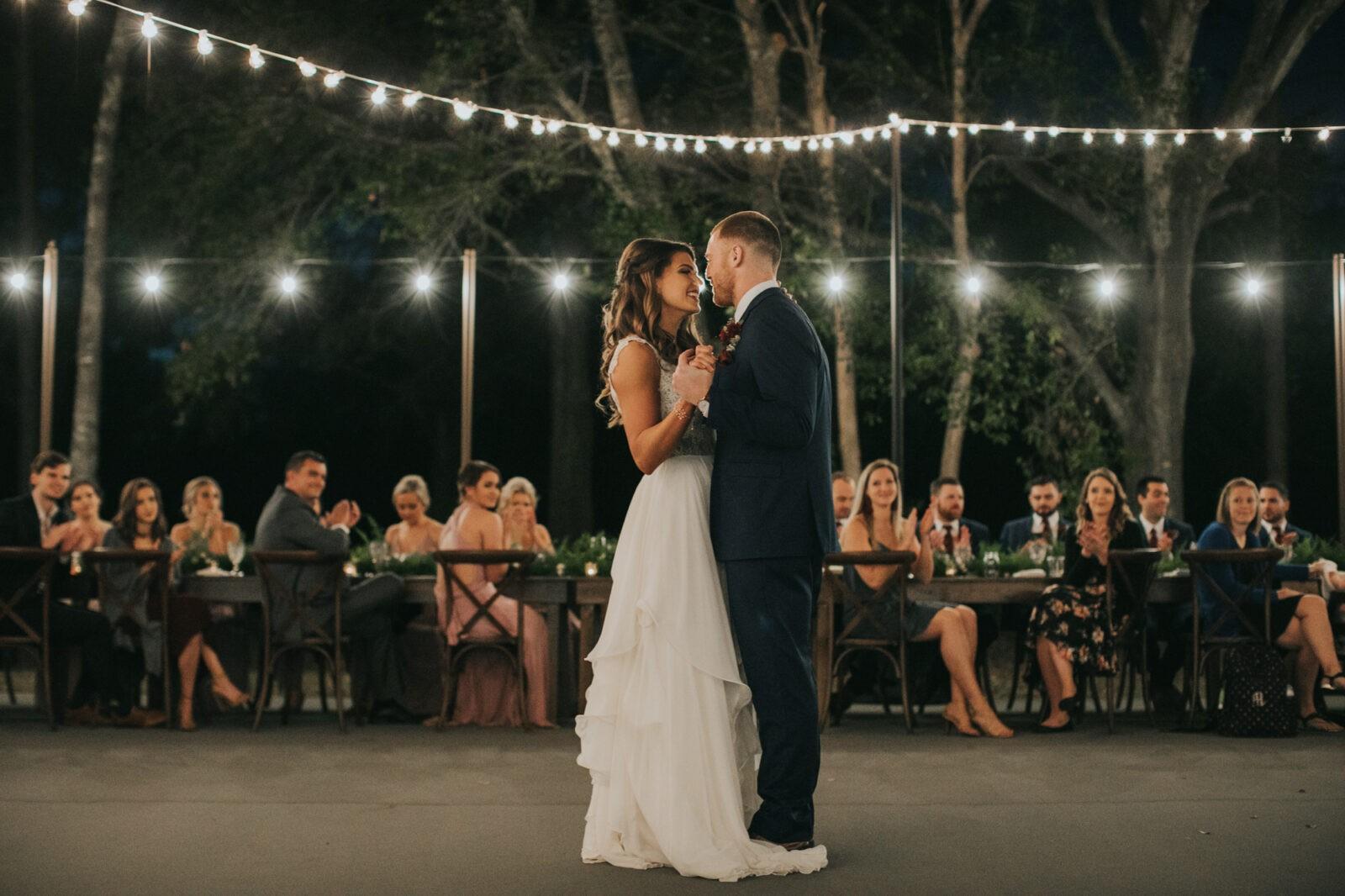 romantic wedding first dance