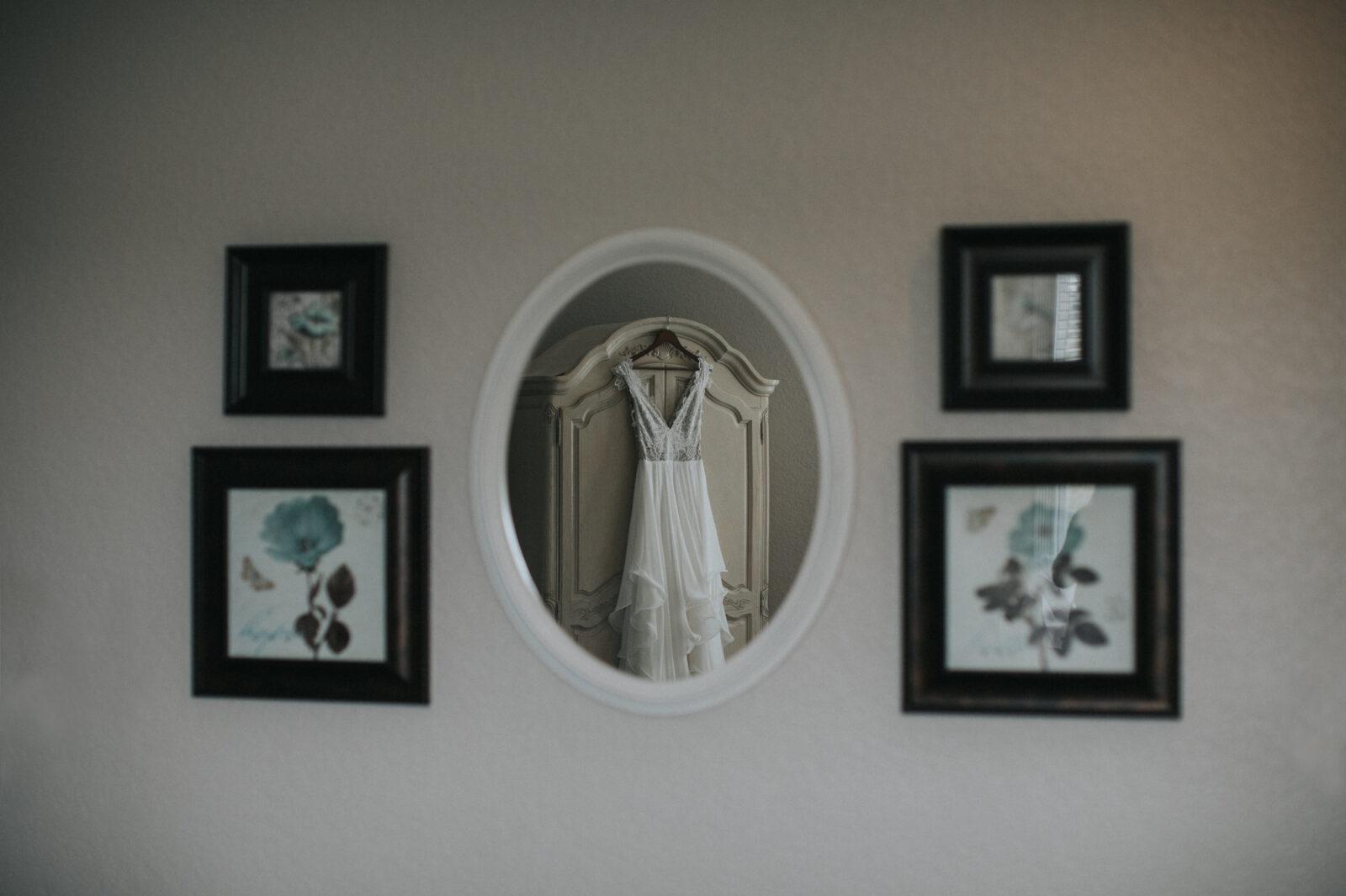 Creative wedding dress photography