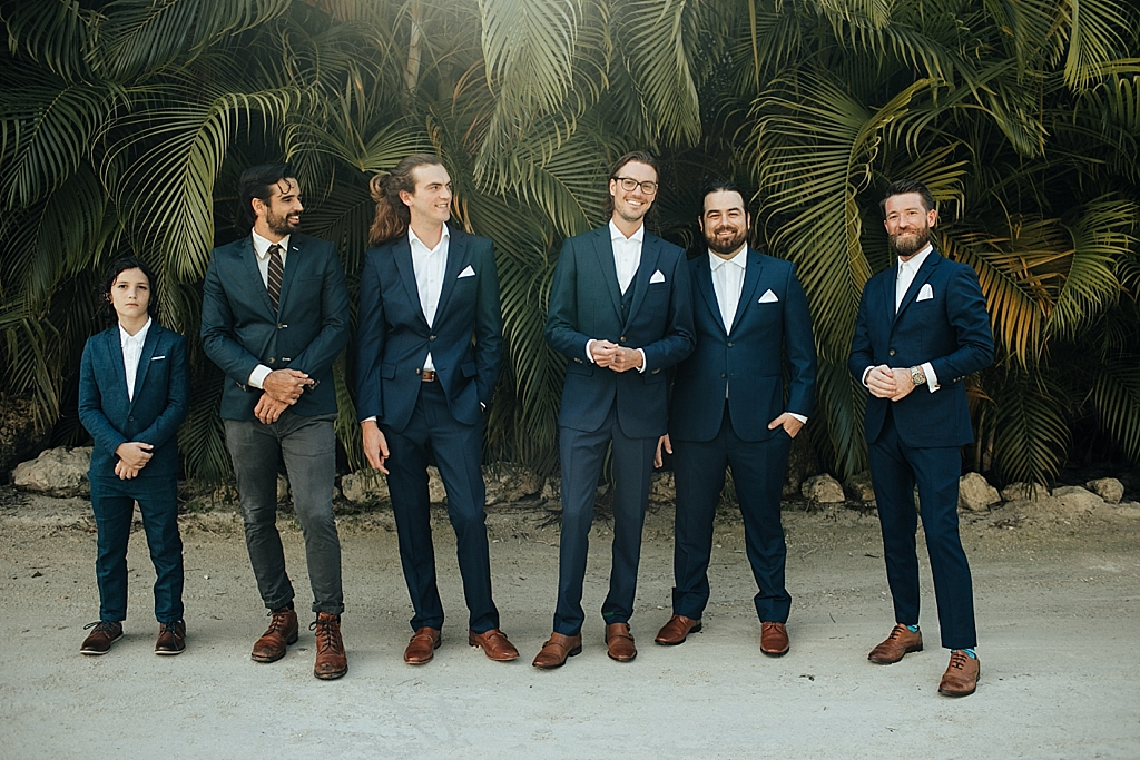 groomsmen portraits in islamorada florida